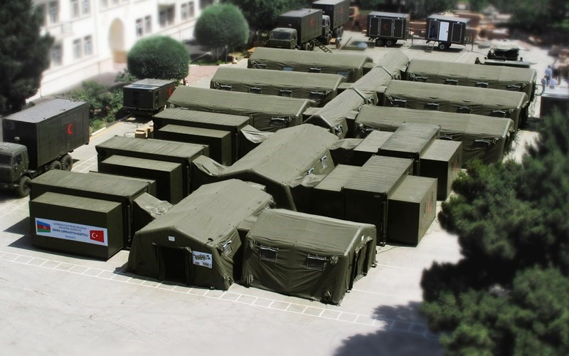 Military camp air conditioning